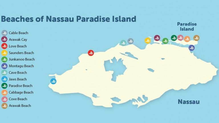 Map Of Nassau Paradise Island Bahamas Nassau Paradise Island - Map of the bahamas