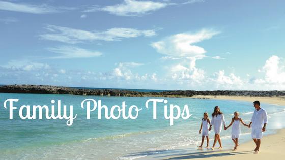 A family walks on the beach - family photo tips.