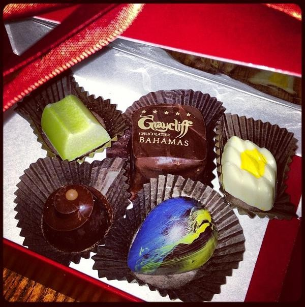 Assorted chocolates from Graycliff Chocolatier.