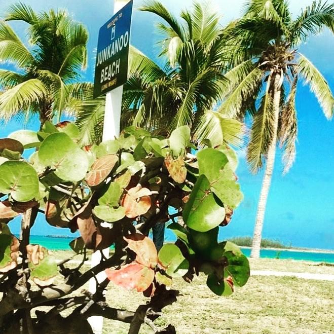 A sign for Junkanoo Beach.
